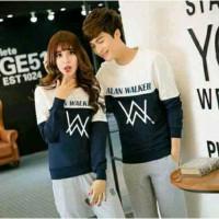 Sweater Alan Walker Duo White Navy