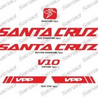 Stiker Frame Sepeda Santa Cruz v10