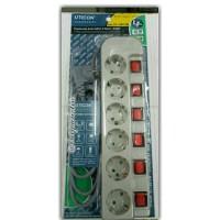 Stop kontak Uticon 6 lubang switch ST1682SN