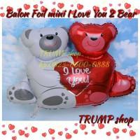 Balon Foil mini I Love You 2 Bear