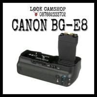 BATERAI BATTERY GRIP CANON BG-E8 BGE8 BGE 8 FOR EOS 550 600D 650D 700D