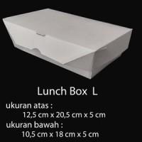 PAPER BOX LUNCH UKURAN L BESAR - PAPER BOX KERTAS - TAKE AWAY