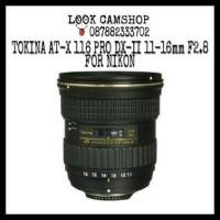 LENSA DSLR TOKINA AT-X 116 PRO DX-II 11-16mm 11-16 F2.8 FOR NIKON SLR