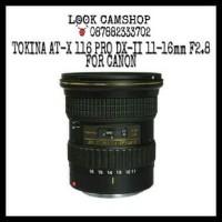 LENSA DSLR TOKINA AT-X 116 PRO DX-II 11-16mm 11-16 F2.8 FOR CANON SLR