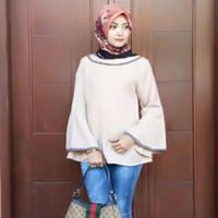 Atasan Wanita Kania Blouse Tunik Baju Muslim Blus Muslim