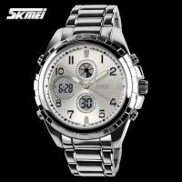 Jam Tangan Analog Digital Pria SKMEI 1021 Original Stainless - Silver