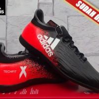 Sepatu Futsal terbaru Adidas X 16.2 Techfit Boots Hitam Merah KW Super
