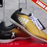 Sepatu Futsal terbaru Adidas X 16.2 Techfit Boots Gold KW Super