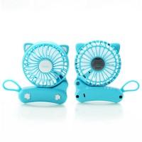 Remax Kipas Mini Portabel Bentuk Kucing USB Rechargeable - F14 - Blue