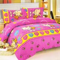 VersaSprei / Sprei Hello Kitty King Set Bedcover