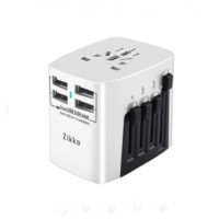 Zikko Travel Adapter 4 Port Wall Charger