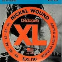 senar gitar listrik d'addario 010 elektrik exl110 packing new cover