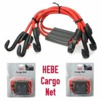 HEBE tali cargo net jaring pengikat ikat barang bagasi box motor kurir