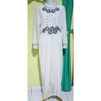 baju gamis muslim putih wanita jumbo