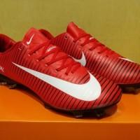 Sepatu Bola Nike Mercurial Vapor XI Red White Black Made in Indonesia