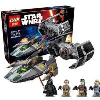 Star Wars Darth Vader TIE Advanced vs A-Wing Lego kw 75150 Lepin 05030