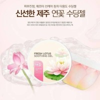the face shop jeju fresh lotus soothing gel 285ml
