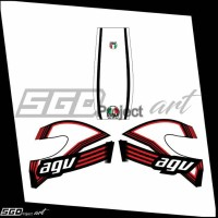 Sticker Decal Helm New Red & White