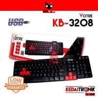 Keyboard Votre KB-3208 USB MURAH BERKUALITAS GAMING Black Kabel