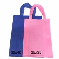 (30x40x10) HLS Goodie bag Tas kain spunbond / handle lipat samping
