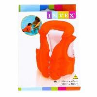 INTEX Jaket Ban / Pelampung Renang Anak Orange Polos [ 58671 ]