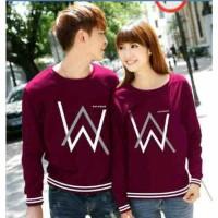 Sweater Alan Walker Rajut Maroon