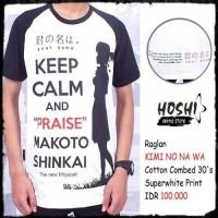 T-Shirt Distro Kaos Raglan Anime KIMI NO NA WA