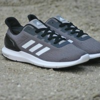 Sepatu Running Adidas Cosmic Grey List White Original - Sneakers Shoes