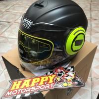 Helm AGV Fluid Halfface dobel visor asli Italy matt yellow size M L XL