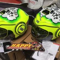 Helm AGV Fluid Halfface Made In Italy Misano 2011 M L XL dual visor