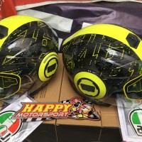 Helm Halfface AGV Fluid made in Italy M L XL Ibiscus VR46 dual visor