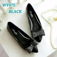 Sepatu Wanita Flat Shoes Pita Gliter SDB79 | FS016