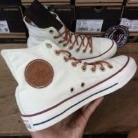 Sepatu Converse Tali Coklat High Sneakers Casual Maroon
