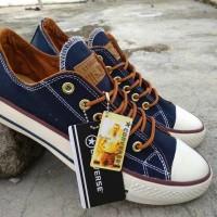 Sepatu Converse Tali Coklat Sneakers Casual Navy