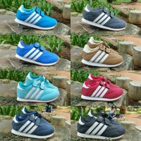 Adidas Neo Anak size 23 - 32 sepatu pria sneakers tosca biru merah abu