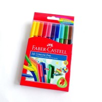 Faber Castell Connector Pen 10 Colors Spidol Warna