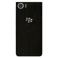 9Skin - Premium Skin Case BlackBerry KEYone - 3M Black Wood