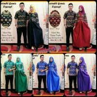 Batik Couple/Gamis/Batik serabit zingzang Gamis