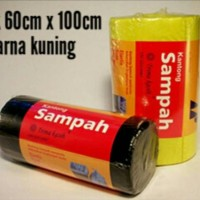 kantong plastik sampah roll warna kuning - trash bag uk 60cm x 100cm