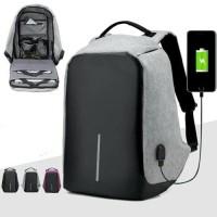 Tas Anti Maling Tas Ransel USB port charger Tas laptop punggung pria