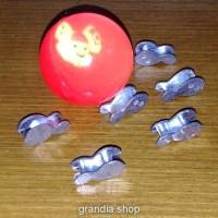 Set bola bekel dan 6 pit / biji timah mainan jadul 90an