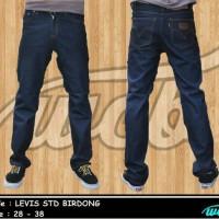 celana jeans levis biru dongker standar/regular