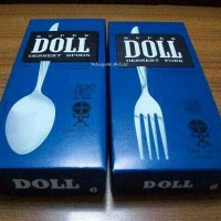 Sendok Garpu Makan Super Doll Stainless Steel/sendok garpu via Gosend