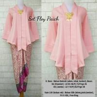 Set Floy Pink JUMBO (Kebaya+kain)/Kebaya modern/Kutubaru/Kain