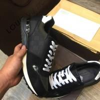 Sepatu/Shoes Branded Sneakers Louis Vuitton New Black 3.2410-Miror