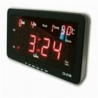 jam digital dinding dan meja CX 2158 Merah red clock