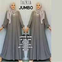 Gamis Muslim Jumbo Polos Busui Jersey Maxi Dress Big Size XXXXL Murah