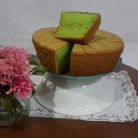 Chiffon / Siffon Cake Keju, Coklat, Pandan