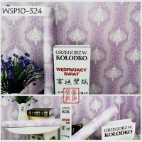 ZC Wallpaper Sticker Purple Diagonal Border