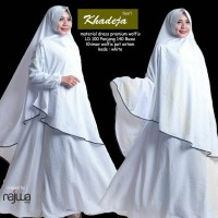 Gamis syari lyra virna khadeja white collection